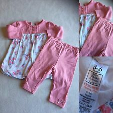 Baby Girls Clothes 3-6 Months - Cute  Outfit - Dress & Leggings