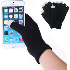 Magic Touch Screen Gloves Smart Phone Tablet Winter Knit Warmer Mittens BLACK
