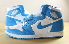 New Nike Air Jordan 1 I Retro High OG UNC White Powder Blue 555088-117 sz 15