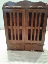 Wall Cabinet Curio Display Case Solid Wood Doors/Drawers Wall Shelves