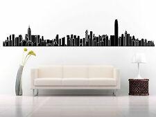 Wall Room Decor Art Vinyl Sticker Mural Decal City Skyline Hong Kong China FI815