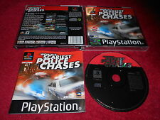Del mundo más temibles policía persecuciones Original Black Label playstationpsone Ps1 Ps2 Pal