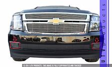 GTG 2015-17 Chevy Suburban 2PC Polished Billet Grille Grill Overlay Kit