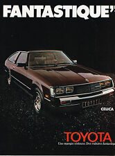 PUBLICITE ADVERTISING 114  1980  TOYOTA   CELICA FANTASTIQUE