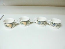 Mikasa Intaglio Garden Harvest CAC29 Set of 4 Cups Fruit Pattern