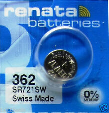 Button Cell Type 362 0% MERCURY Battery Renata 5 Pcs