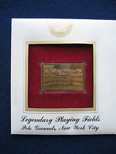 2001 Polo Grounds New York City Field 22kt Gold Golden Cover FDC replica Stamp