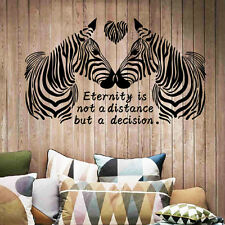 Zebra Living Room Decor Removable Decals Vinyl Mural Art PVC Home Wall Stickers