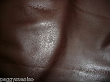 """Leather 12""""x12"""" Super SOFT Chocolate Brown Deer Tanned Cow hide 3oz/ 1.2mm scrap"""