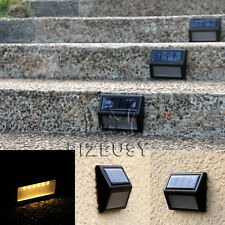 6LED Warm White Garden Solar Powered PIR Motion Sensor Wall Light Outdoor Lamp