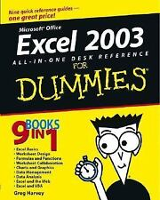 Excel 2003 All-in-One Desk Reference For Dummies Harvey, Greg Paperback