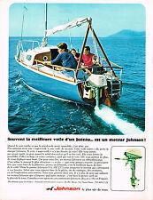 PUBLICITE ADVERTISING 094  1967  JOHNSON  moteur bateau