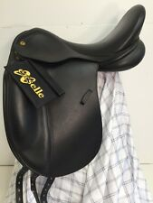 "Exselle Dressage Saddle Black 17.5"" Medium Tree 18"" Flap Walsall Royal Co.New"