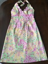 LILLY PULITZER Dress Fillies For Lillies Halter Derby Dress Horse Print Size 2