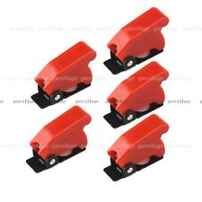 5 Lot Safety Plastic Switch Flip Cap Cover Guard For Toggle Switch SAC-1 Red New