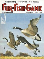Fur-Fish-Game magazine December 1981 Geese cover by Chuck Ripper