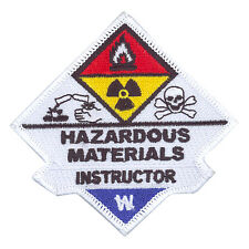 Hazardous Materials Haz Mat Instructor Sew On Uniform Patch Firefighter Rescue