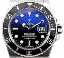 Rolex Submariner Ceramic Stainless Steel 116610 with Custom Deep Blue Dial 40mm