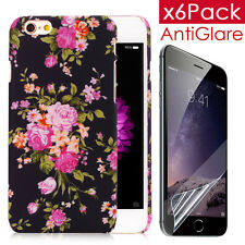 Elegant Vintage Peony Case For iPhone 6 6S 4.7'' With 6XScreen Filmr&2 Ear Cap