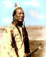 "BIG MOUTH SPRING BLACKFEET NATIVE AMERICAN 1910 8X10"" HAND COLOR TINTED PHOTO"