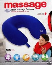 Battery Operated Vibrating Massager Microbead Comfort Neck Cushion Pillow(Blue)