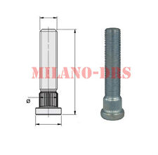 KIT 8 COLONNETTE PIANTAGGIO M12x1,50 L=60mm DIAMETRO 13,00mm Zigrino