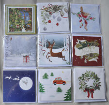 2 Cards NEW 3D Pop-Up Merry Christmas, Santa, Snowmen, Cat, Raindeer, Snow Globe
