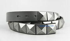 ARMANI EXCHANGE BELT GRAY 100% LEATHER & NICKEL STUDS SIZE 36 NEW