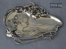 WMF : Plateau à Cartes Card Tray Métal Argenté Art Nouveau Jugendstil 1890/1900