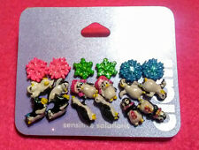 ~CLAIRE'S CHRISTMAS EARRING~Funny Penguins & Colorful Snowflakes