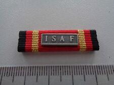 (US-BW)   Ordensspange US Format Ribbon Bundeswehr Einsatzmedaille ISAF silber