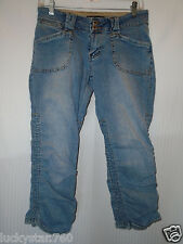 BUBBLEGUM WOMANS CROPPED RANCHED JEANS SIZE 7/8