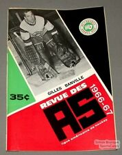 1966-67 AHL Quebec Aces Program Gilles Banville Cover