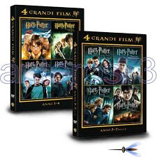 HARRY POTTER LA COLLEZIONE COMPLETA 8 DVD IN 2 BOX - SIGILLATI