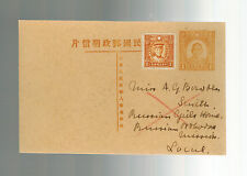 1920s Shanghai China Local PS Postcard Cover Russian Girls Home Orthodox Mission