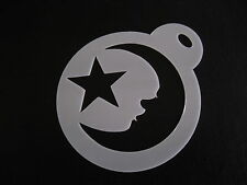 Laser cut small star and moon design cake, cookie, craft & face painting stencil