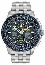 Mens Citizen Eco-Drive Stainless Atomic Blue Angels Skyhawk Watch JY8058-50L