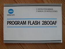 MINOLTA Program Flash 2800 AF Bedienungsanleitung Anleitung, englisch/spanisch