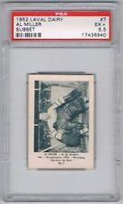 1952 Laval Dairy Subset Hockey Card Quebec Aces #7 Al Miller Graded PSA 5.5