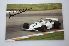 Desire Wilson- Formel 1   - Williams FW07-original Autogramm - Größe  15 x 10 cm