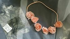 New By Avon Valentina Floral Headband Pretty Peach Rosebud Headband Flowers