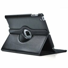 Black 360 Degrees Rotating Stand Leather Case for CDH Ipad 2ND 3 4TH Generation