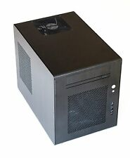 LIAN LI PC-Q08B Black Aluminum Mini-ITX Tower Computer Case + 380W PSU