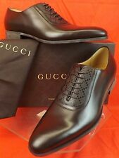 NIB GUCCI COCOA MILA HILARY LUX DIAMANTE LEATHER DRESS OXFORDS 11 12  #309027