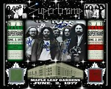 SUPERTRAMP SIGNED 8x10 RP PHOTO JUNE 2 1977 W/ MAPLE LEAF GARDENS RED-GREEN SEAT