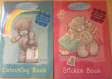 New Me To You Tatty Teddy Colouring Book & Sticker Book with Reusable Stickers