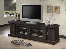 Wood TV Console 70-Inch Stand Contemporary Entertainment Center Cabinet Storage