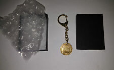VINTAGE QUEEN ELIZABETH II THREE PENCE ORIGINAL COIN GOLD KEYCHAIN