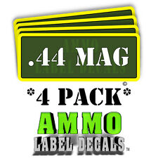 ".44 MAG Ammo Label Decals Ammunition Case 3"" x 1"" Can stickers 4 PACK -YWag"