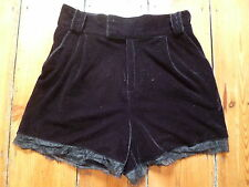 THE KOOPLES BLACK VELVET SHORTS & LACE TRIM, M, 8-10